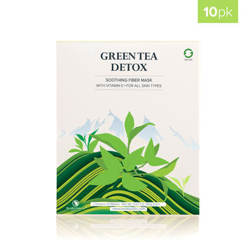 Green Tea Detox Purifying Sheet Mask - Box of 10
