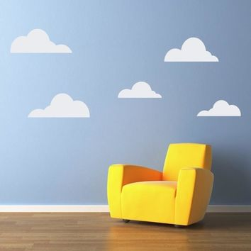 Clouds Wall Decal Set - Cloud Wall Stickers - Children Bedroom Decor Wall Decals