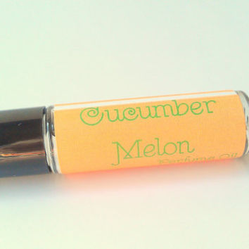 Cucumber Melon Perfume Oil by ZEN-ful, Roll On Perfume Oil, Fragrance, Cologne, Gift Ideas