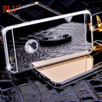 Phone Case Ultra-thin Plated Soft Clear Mirror Surface Phone Back Cover Case For iPhone 5 5s 6 6s 6  6Plus Case Cover
