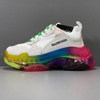 Balenciaga Triple S Clear Sole Trainers Rainbow Sneakers - Best Online Sale