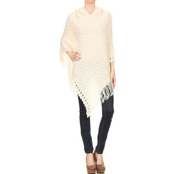 Knitted Asymmetrical Poncho