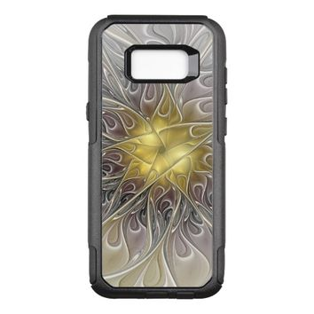 Flourish With Gold Modern Abstract Fractal Flower OtterBox Commuter Samsung Galaxy S8+ Case