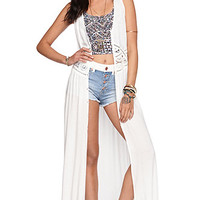 Kendall and Kylie Sleeveless Crochet Inset Dress at PacSun.com