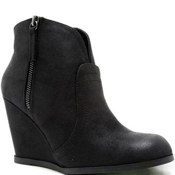 Wedge Bootie - Black