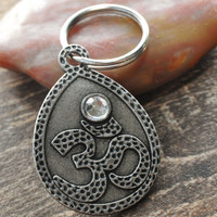 Om Key Chain, Om, Yoga Key Chain, Gift Under 10, Yoga, Yoga Mind, Unisex Gift
