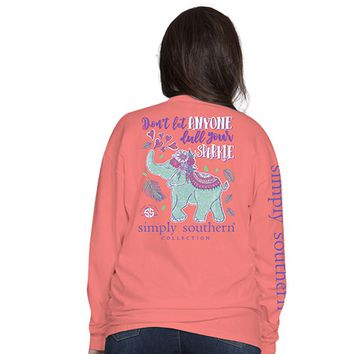 "Youth Simply Southern ""Elephant"" Long Sleeve Tee"