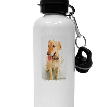 Golden Retriever Watercolor Aluminum 600ml Water Bottle