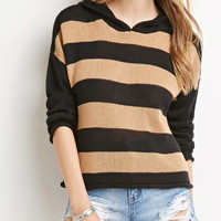 Hooded Stripe Sweater