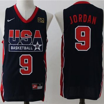 Best Deal Online USA Basketball Dream Team Jerseys #9 Michael Jordan