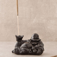 Reclining Happy Buddha Incense Holder