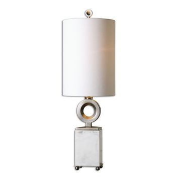 Palos White Alabaster Buffet Lamp by Uttermost
