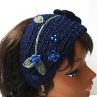 Crochet Headband, Headwrap, Earwarmer, Winter Headband, Knit, Winter Headband