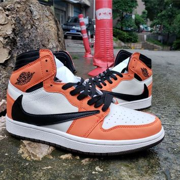 Air Jordan 1 High OG TS SP White/Black/Orange