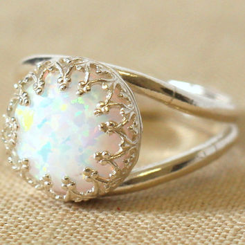 Opal Ring White Opal Ring Silver Opal Ring gift for woman Silver Mint Opal Ring Bridesmaids gift,Opal jewelry,Opal jewelry, Silver Opal Ring