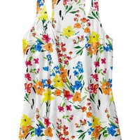 Women's Floral-Print Racerback Tanks on LoLoBu
