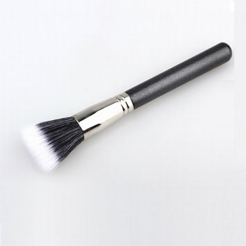 1pcs Full Size Powder Brush Skin Care Black 187 Duo Fiber Stippling Brush Make Up Tools,Free Shipping