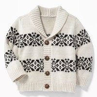 Fair Isle Shawl-Collar Cardigan for Baby | Old Navy
