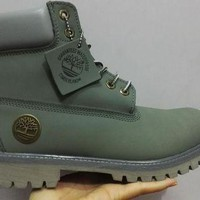 PEAP8KY Timberland Rhubarb Boots 10061 Green Waterproof Martin Boots