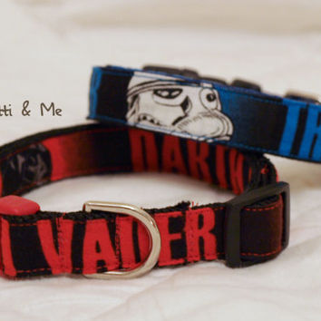 "Star Wars - 5/8"" Width Adjustable Dog Collar - Custom Dog Collars, Leashes, Pet Accessories, Martingale Collars, Harnesses, Etc"