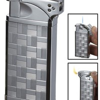 Visol Coppia All-in-One Chrome Cigar, Cigarette and Pipe Lighter