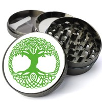 Tree Of Life Extra Large 4 Chamber Spice & Herb Grinder With Microfine Screen