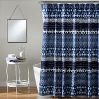 Lush Decor Lambert Tie Dye Navy Shower Curtain | Overstock.com Shopping - The Best Deals on Shower Curtains
