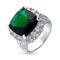Bling Jewelry Emerald Pretty Ring