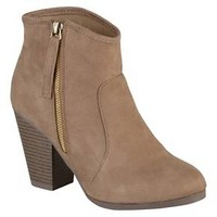 Women's Journee Collection Link Faux Suede Ankle Boots : Target