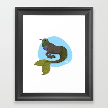 Humming Hypocampus Framed Art Print by Justhappiling