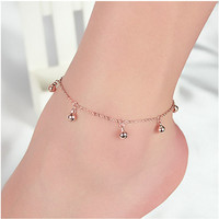 Lovely Korean 925 Stylish Chain Fashion Cute Silver Anklet = 4831023492