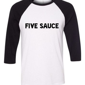 "5SOS 5 Seconds of Summer ""Five Sauce"" Baseball Tee"