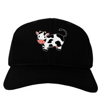 Cute Cow Adult Dark Baseball Cap Hat