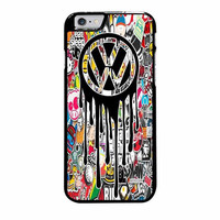 volks wagen melting logo iphone 6 plus 6s plus 4 4s 5 5s 5c 6 6s cases
