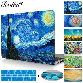 Starry Night Laptop Case For Macbook Pro 13 15 Case A1706 A1708 A1707 Touch bar & 2016 Retina Cover For Mac Air Pro Retina 13 15