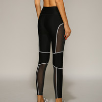 Black Mesh Yoga Pants,