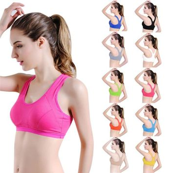 Professional Absorb Sweat Top Athletic Sports Bras for Fitness Yoga Running, Gym Women Seamless Padded Vest Tanks #FS#4JU20