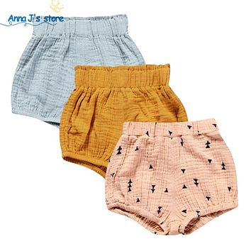 Children's Clothing Boys Shorts Toddler Solid Cotton Linen Baby Kids Clothes Shorts Bloomers Bottom Pants
