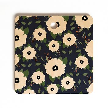 Allyson Johnson Floral Class Cutting Board Square