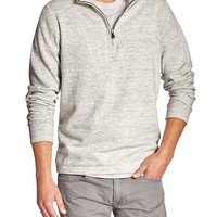 Banana Republic Mens Factory Half Zip Mock Neck Pullover