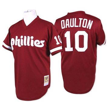 promo code da81b 24a9c Mitchell and Ness Philadelphia Phillies Mens Batting Practice Baseball  Jersey - Maroon
