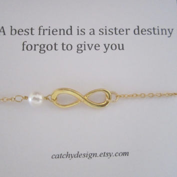 Best friend gift,BFF,Infinity bracelet with Friendship Quote,Inspirational Quote,best friend Infinity Bracelet,Bracelet for friend,Christmas
