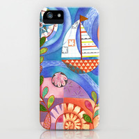 Summer Harbor iPhone Case by Janet Broxon | Society6