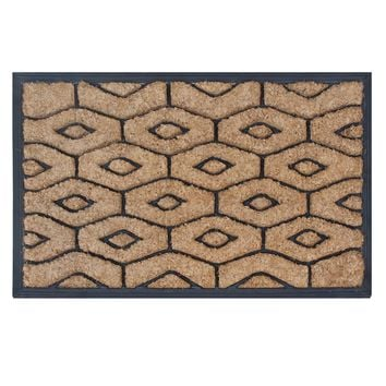 Rubber And Coir Molded Honeycomb Doormat