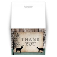 Thank You Cards - Deer Rustic Woodsy
