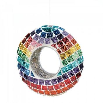 Mosaic Glass Bird Feeder