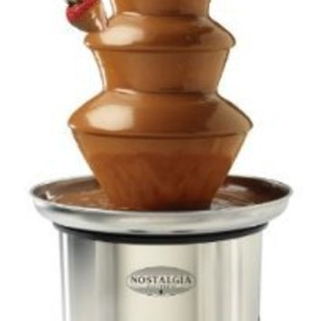 Nostalgia Electrics CFF986 3-Tier Stainless Steel Chocolate Fondue Fountain