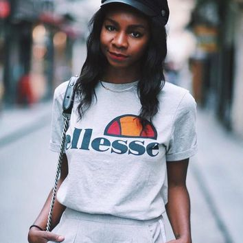 Ellesse Fashion Men Women T-shirts