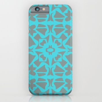 Turquoise and Gray Pattern  iPhone & iPod Case by Xiari