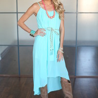 Sweet Southern High Low Dress Mint